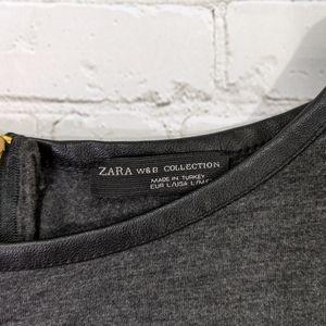 Zara Tops - Zara W&B Collection Heather Black Tunic